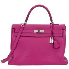 Hermes Kelly 35 Retourne Tosca Clemence Bag