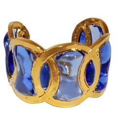 Mercedes Robirosa Paris blue gripoix glass cuff
