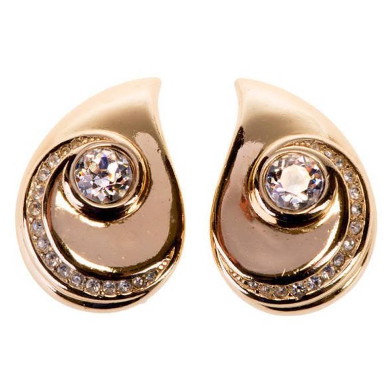 Dior 'Teardrop' Earrings 1