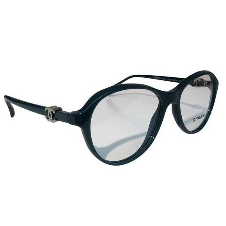 Chanel Eyeglasses, Teal Green (CH3226) For Sale at 1stdibs