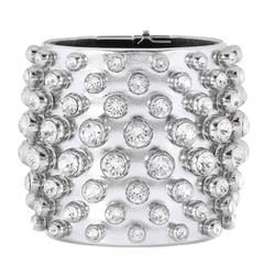 Tom Ford NEW & SOLD OUT Swarovski Crystal Leather Evening Cuff Bracelet