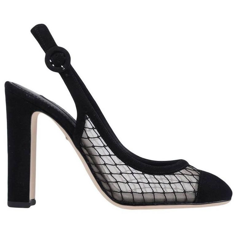Dolce & Gabbana NEW & SOLD OUT Black Suede Mesh Heels Pumps in Box 1