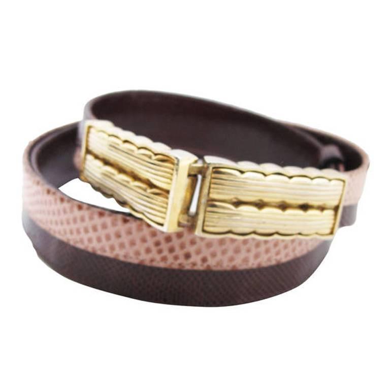 Judith Leiber Snakeskin Waist Belt 1