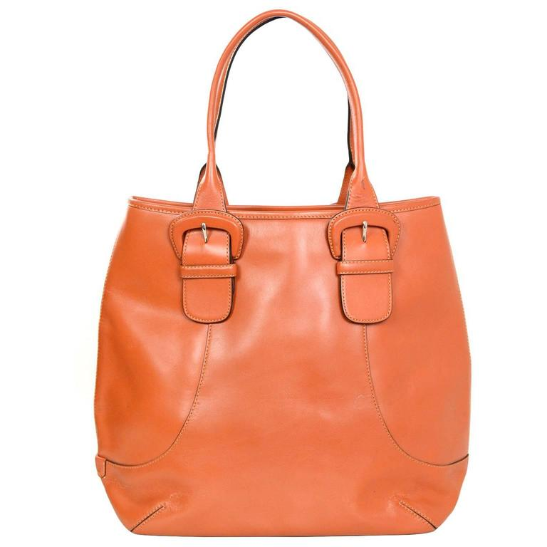 e4ff68976d Cole Haan Orange Leather Tote bag For Sale at 1stdibs