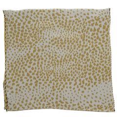 Chloe Animal Print Silk Large Scarf w/ Chain Trim