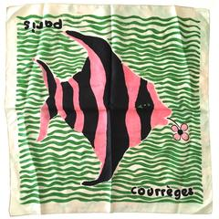 Rare Courreges Scarf - Silk - 1960's