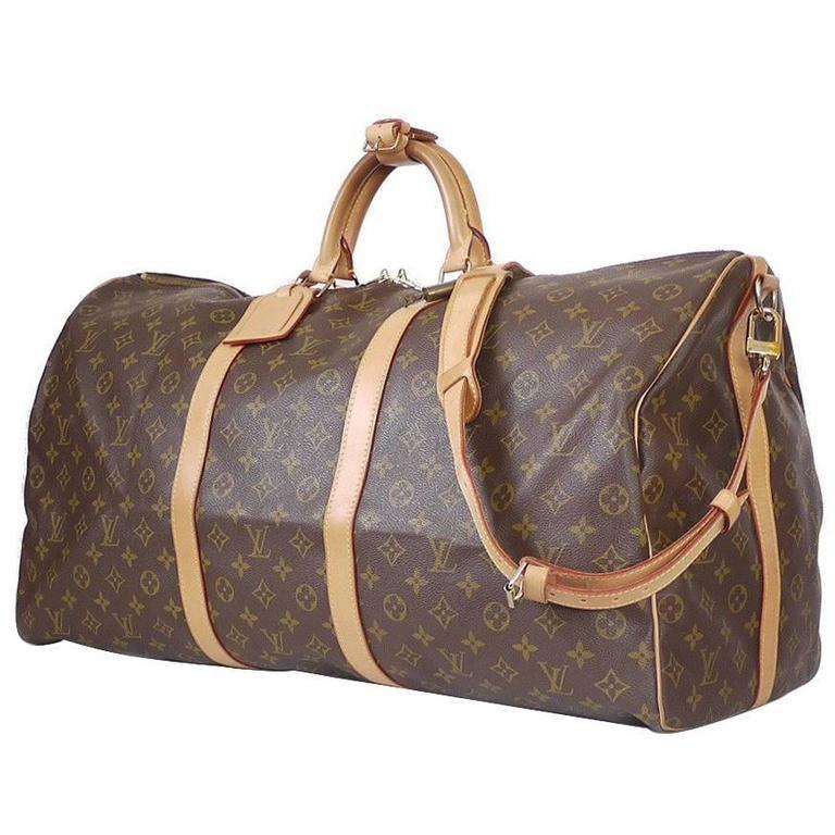 ca143d4c5f230 Louis Vuitton Monogram Keepall 60 Bandouliere Travel Bag at 1stdibs