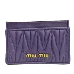 Miu Miu purple Card Holder