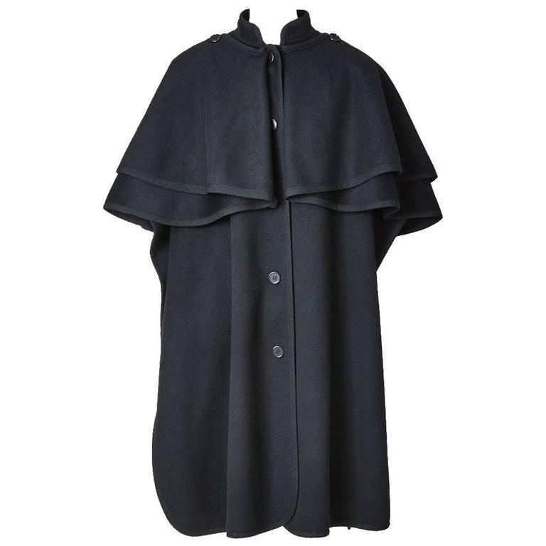 "Yves Saint Laurent Wool ""Gendarme"" Cape 1"