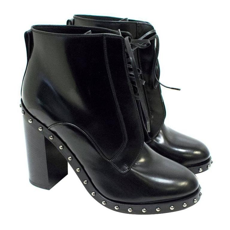 e513b9d51312 Dolce and Gabbana  Lawrence  Black Ankle Boots For Sale at 1stdibs