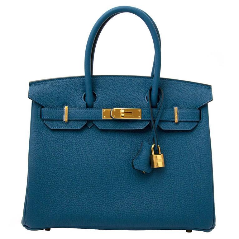 Brand New Hermès Birkin 30 Cobalt GHW