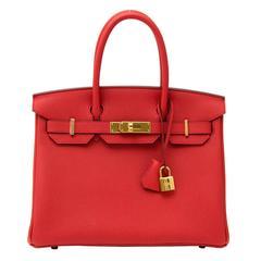 Brand * New Hermès Birkin 30 Togo Geranium GHW