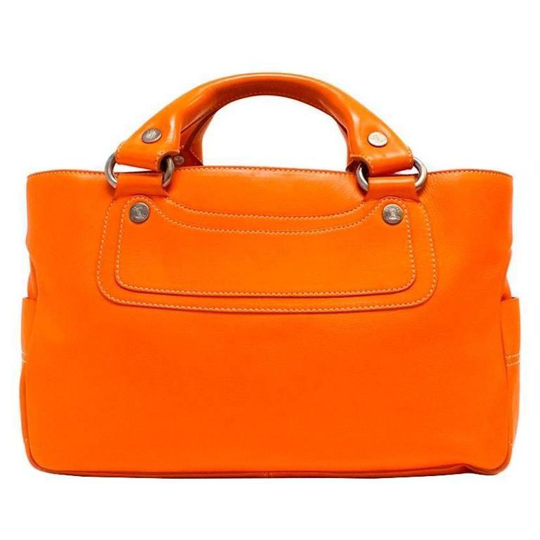 Celine Orange Leather Boogie Bag 1