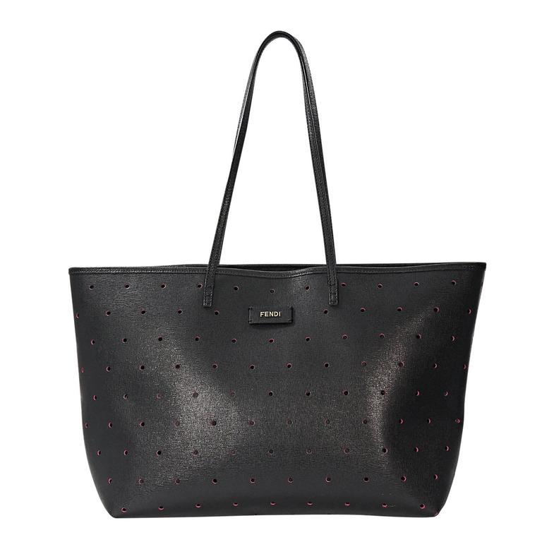 Black Fendi Perforated Tote Bag For Sale at 1stdibs 287c5966942b1