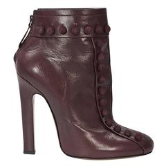 Cranberry Alaia Leather Ankle Boots