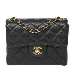 Chanel - Classic Mini Flap Black Quilted Caviar