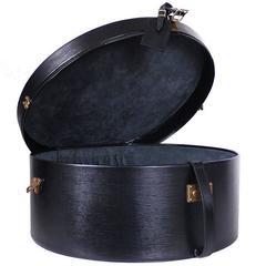 Louis Vuitton Black Epi Boite Chapeaux 50 Hat Box Trunk Case Rare