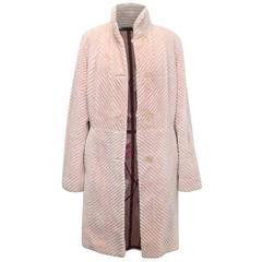 Zuki Rabbit Reversible Coat with Fur Floral Pattern