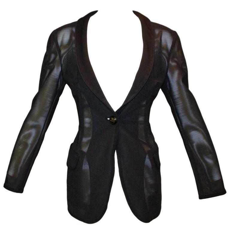 F/W 1995 Dolce & Gabbana Runway Sheer Mesh Jacket
