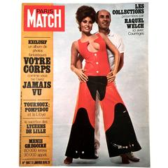 Rare Paris Match Cover - Andre Courreges - Raquel Welch