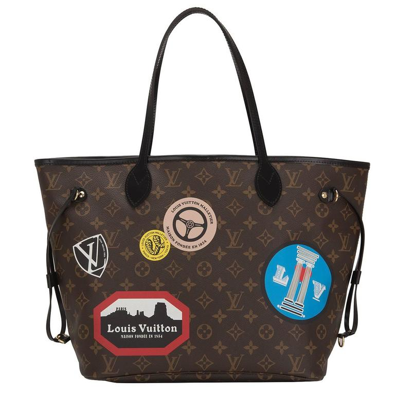 """Louis Vuitton """"World Tour"""" Limited Edition Monogram Neverfull MM For Sale"""