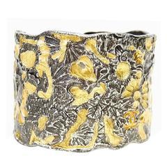 Vintage Chanel Metal Wide Cuff Bracelet, Bangle Rare