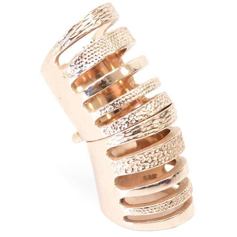 Liberty London gold rose double ring