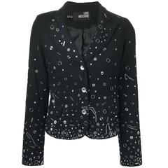 Moschino Black Cotton Blazer