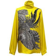 Hermes Yellow Pattern Blouse