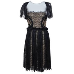 Rodarte Black Tulle And Lace Dress Fall 2008 NEW