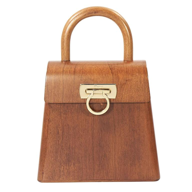 Limited Edition Salvatore Ferragamo Wood Bag