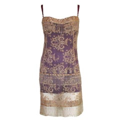 UNIQUE Carrie's SATC Dolce & Gabbana Couture Hand-Embroidered Lace Corset Dress