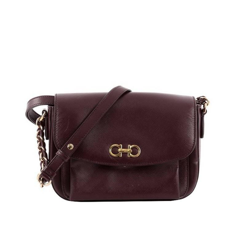 9342273d973b1f Salvatore Ferragamo Sandrine Shoulder Bag Leather at 1stdibs