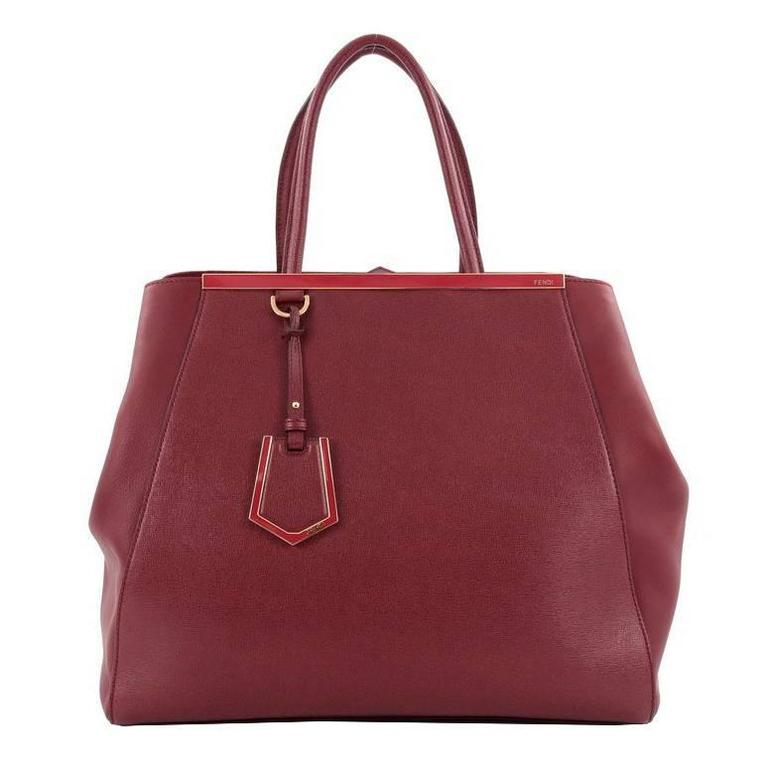 Fendi 2jours Handbag Leather Large ZOlxVv