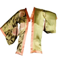 Unique Piece! Collector's Gucci by Tom Ford 2003 Kimono Silk Printed Jacket