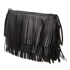 Saint Laurent NEW & SOLD OUT Black Leather Evening Clutch Bag