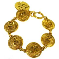 Chanel Gold Multi Charm Rue Cambon Bracelet