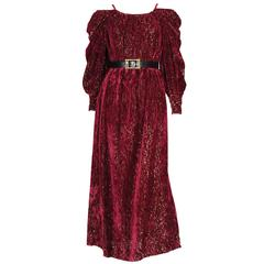 Burgundy Gown by Christian Dior , Boutique Paris