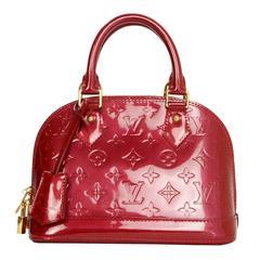 Louis Vuitton Red Monogram Vernis Mini Alma BB Crossbody Bag