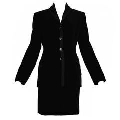 Alaia Black Velvet Skirt Suit
