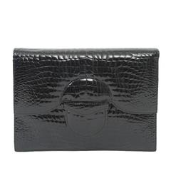 Faux Croc Convertible Clutch
