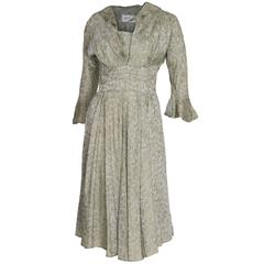 Marion Michael 1940s Sage Green Tea Dress