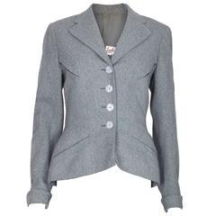1950s Lachasse Blue Wool Vintage Blazer