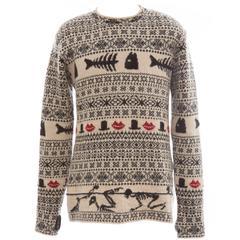 Yohji Yamamoto Men's Wool Patterned Sweater, Autumn - Winter 2011