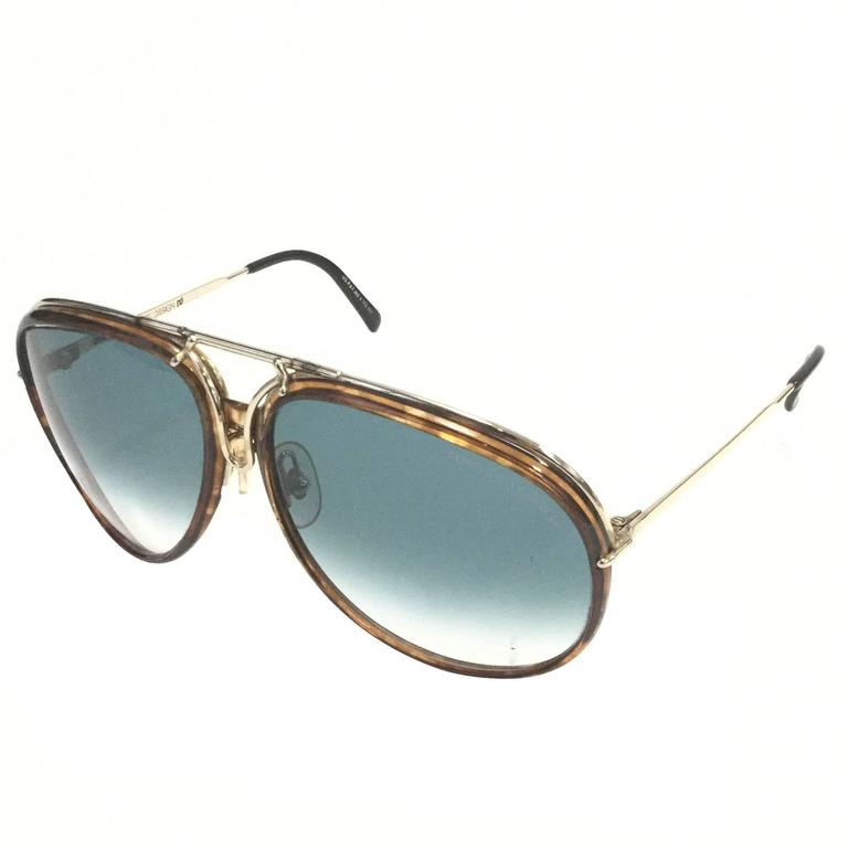 1980s Carrera Porsche Design Tortoiseshell Sunglasses Model 5632