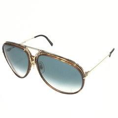 1980s Carrera Porsche Design Tortoiseshell Sunglasses Model 5632