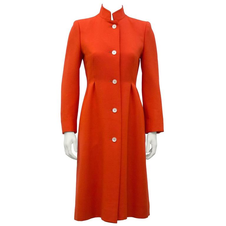1970's The Room at Simpsons Deep Coral Coat  1