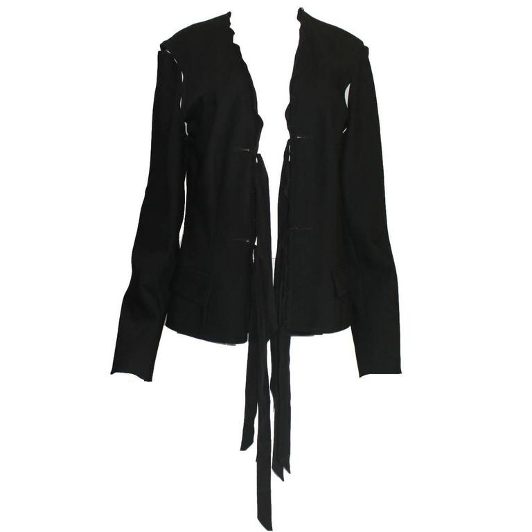 Gorgeous  YSL Yves Saint Laurent by Tom Ford 2002 Black Evening Jacket