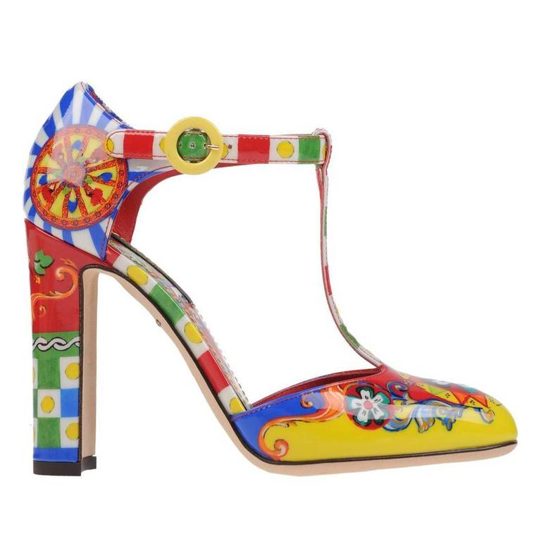 Dolce & Gabbana NEW & SOLD OUT Runway Multi Color Pumps in Box For Sale