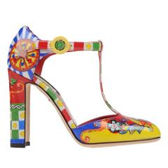 Dolce & Gabbana NEW & SOLD OUT Runway Multi Color Pumps in Box